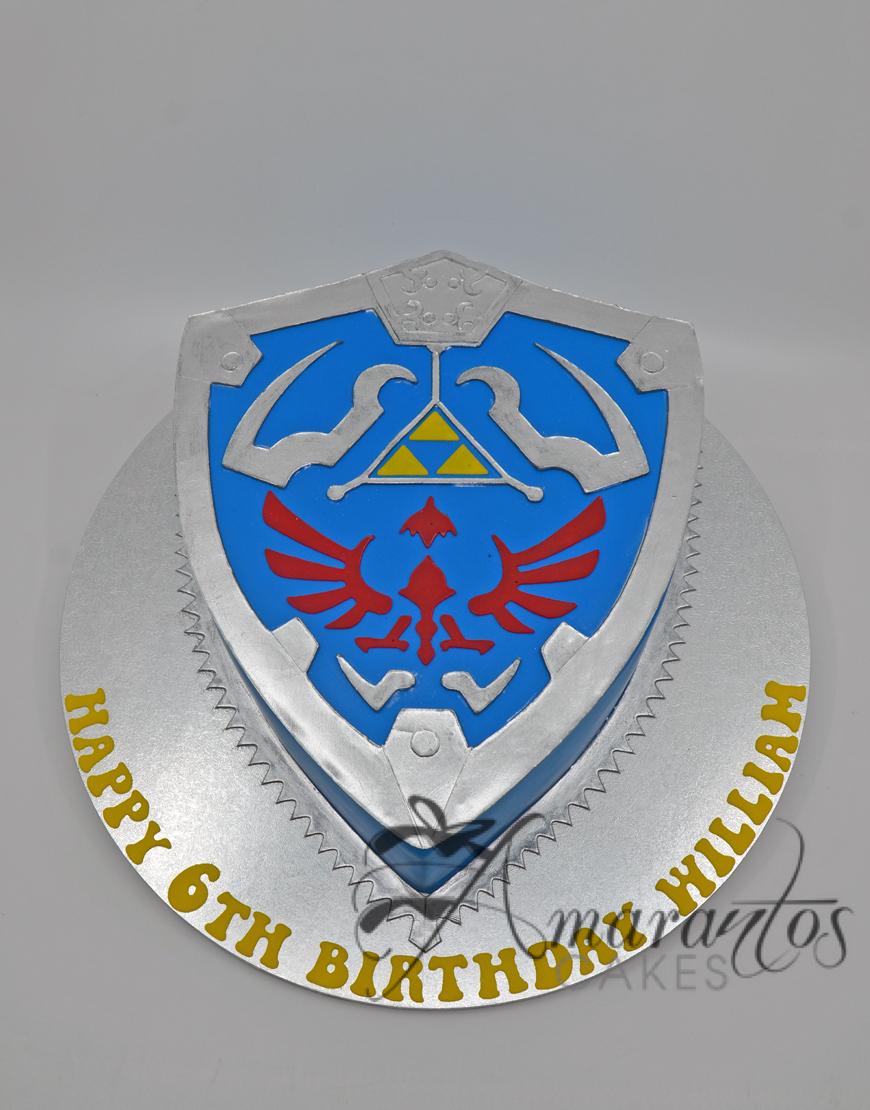 Zelda Shield Cake - Amarantos Designer Cakes Melbourne