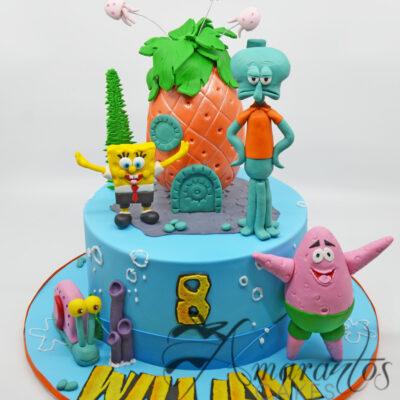 Sponge Bob Pineapple - Amarantos Designer Cakes Melbourne