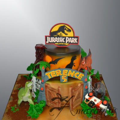 Two tier Jurassic Park Cake - NC806