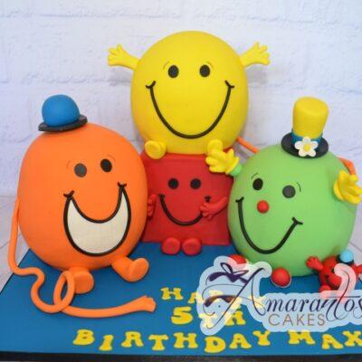 3D Mr Men Cake - Amarantos Cakes Melbourne