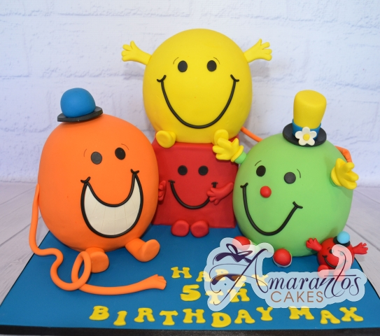 3D Mr Men Cake - Amarantos Cakes Melbourne