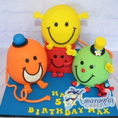 3D Mr Men Cake - Amarantos Designer Cakes Melbourne