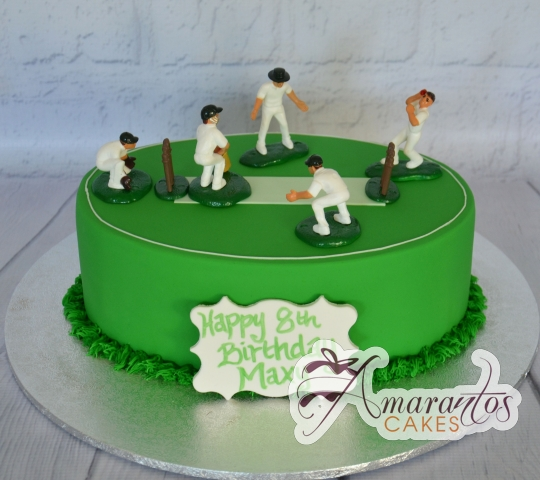 Cricket Pitch Cake - NC847 - Amarantos Cakes Melbourne