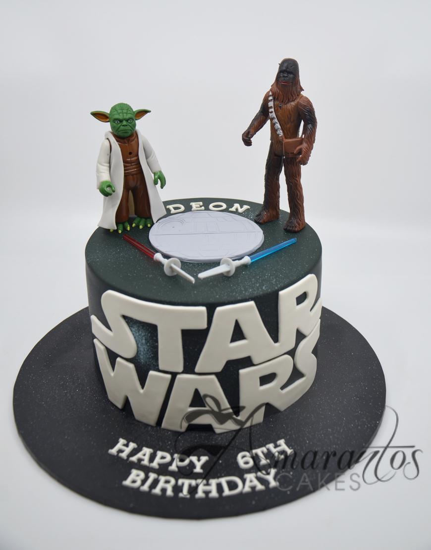 Star Wars Cake With Logo- Amarantos Cakes Melbourne