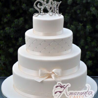 Four tier wedding - Amarantos Cakes Melbourne