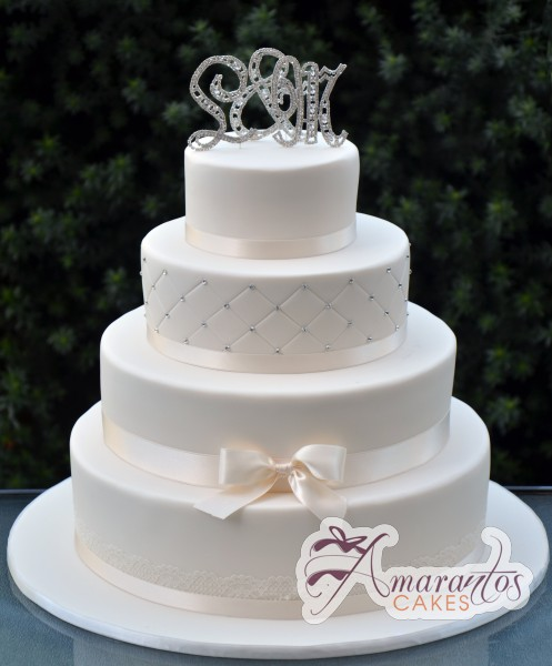 Four tier wedding - Amarantos Cakes Melbourne