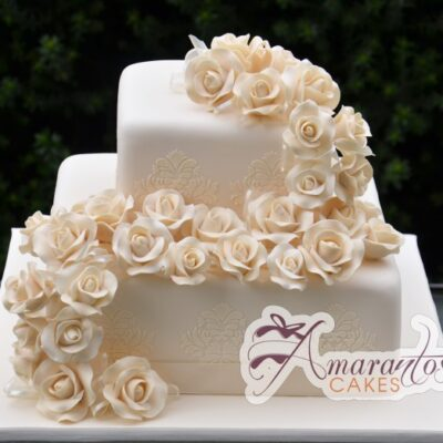Two tier Cake - WC09 - Amarantos Wedding Cakes Melbourne
