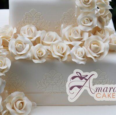 Two Tier Cake - WC09A - Amarantos Designer Wedding Cake Melbourne