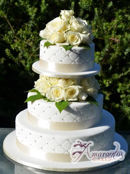 Three Tier Cake Wc103 Amarantos Wedding Cakes Melbourne