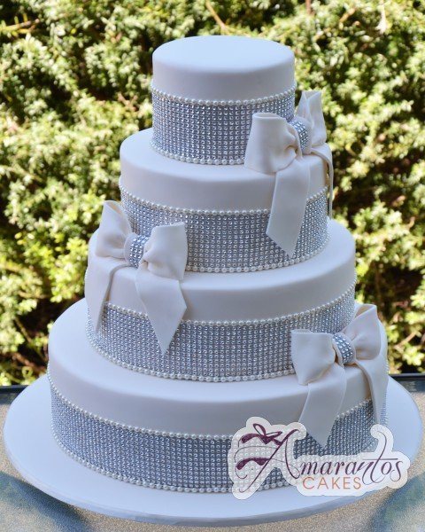 four tier bling wedding cake