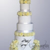 Five Tier Wedding Cake - WC111 - Amarantos Wedding Cakes Melbourne