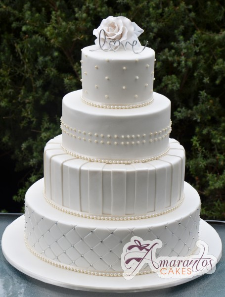 Four Tier Round Cake - WC119 - Wedding Cakes Melbourne