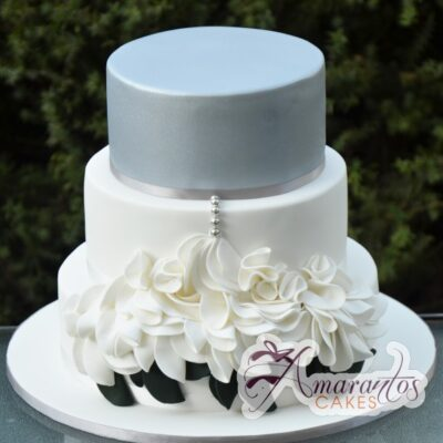 Three Tier Cake - WC121 - Wedding Cakes Melbourne