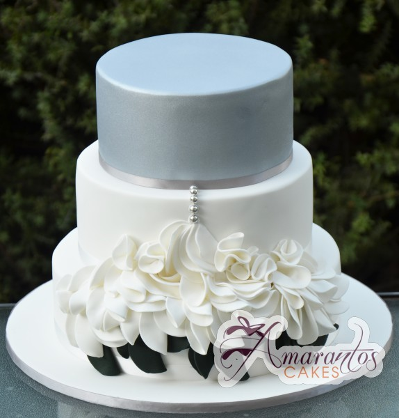 Three Tier Cake - WC121 - Wedding Cakes Melbourne