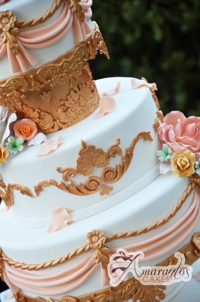 Three tier bronze cake - Amarantos Designer Cakes Melbourne