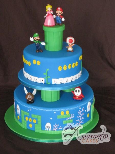 Super Mario Wedding Cake - Amarantos Designer Cakes Melbourne
