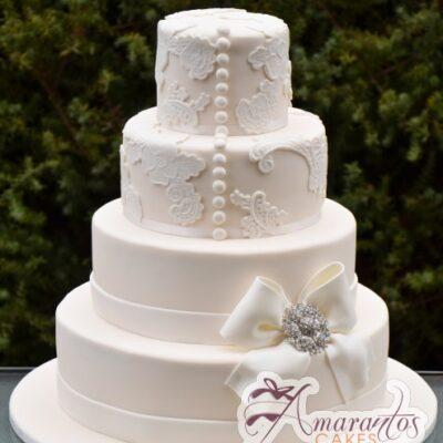 Four tier wedding - Amarantos Wedding Cakes Melbourne