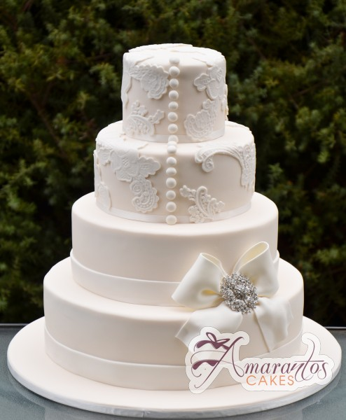 Four tier wedding - Amarantos Wedding Cakes Melbourne