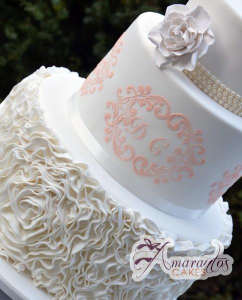 Five tier floral wedding cake - Amarantos Designer Cakes Melbourne