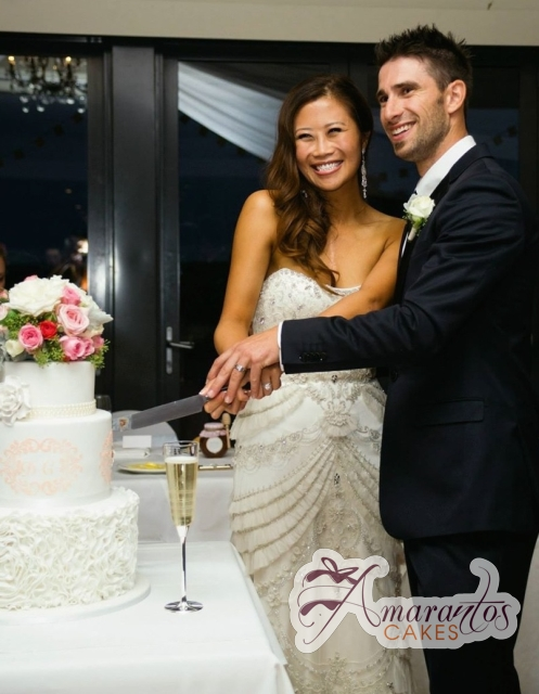 Five Tier wedding cake - Amarantos Designer Cakes Melbourne