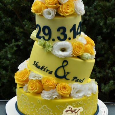 Three tier Topsy Turvy Cake - Amarantos Designer Cakes Melbourne