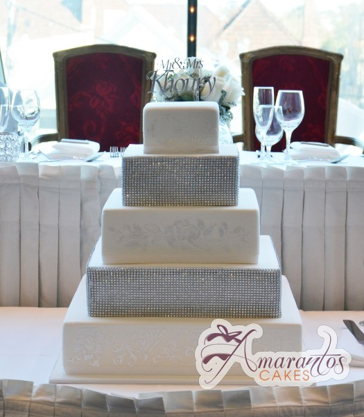 Five Tier Cake - WC22 - Amarantos Wedding Cakes Melbourne