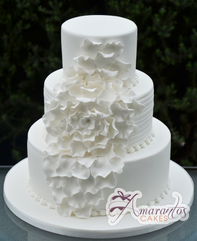 Three Tier Wedding Cake - Amarantos Custom Made Cakes Melbourne