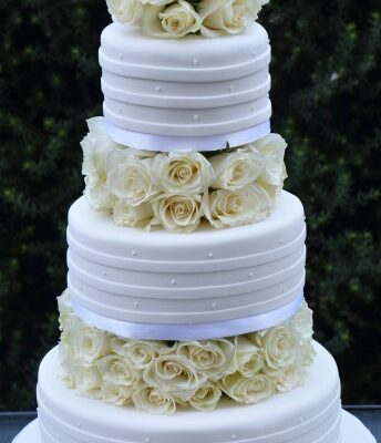 Three Tier Cake - WC25 - Amarantos Wedding Cakes Melbourne