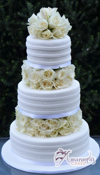 Three Tier Cake - WC25 - Amarantos Wedding Cakes Melbourne