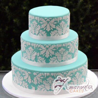 Three Tier Cake - WC27 - Amarantos Wedding Cakes Melbourne