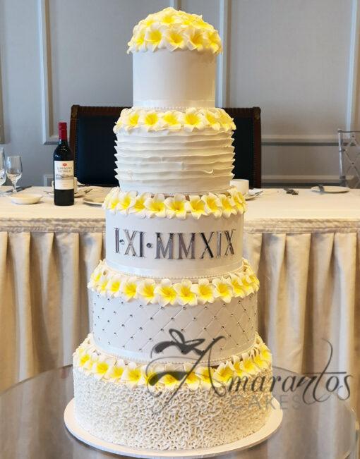 WC40 Five Tier Wedding cake
