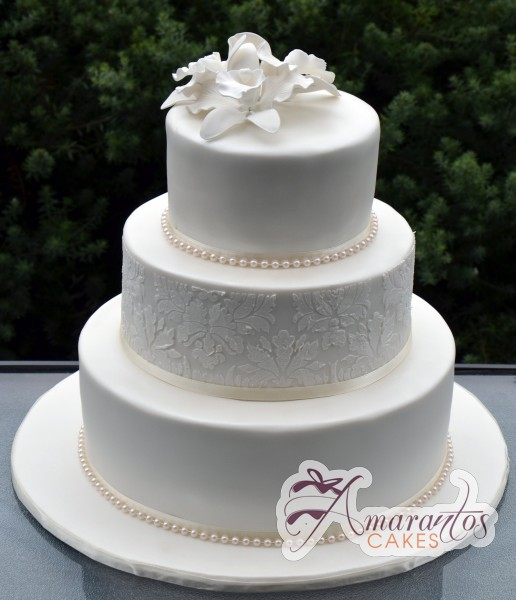 Three Tier Cake - Amarantos Wedding Cakes Melbourne
