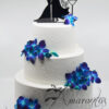 WC43 Three tier Wedding cake with batman theme on Back