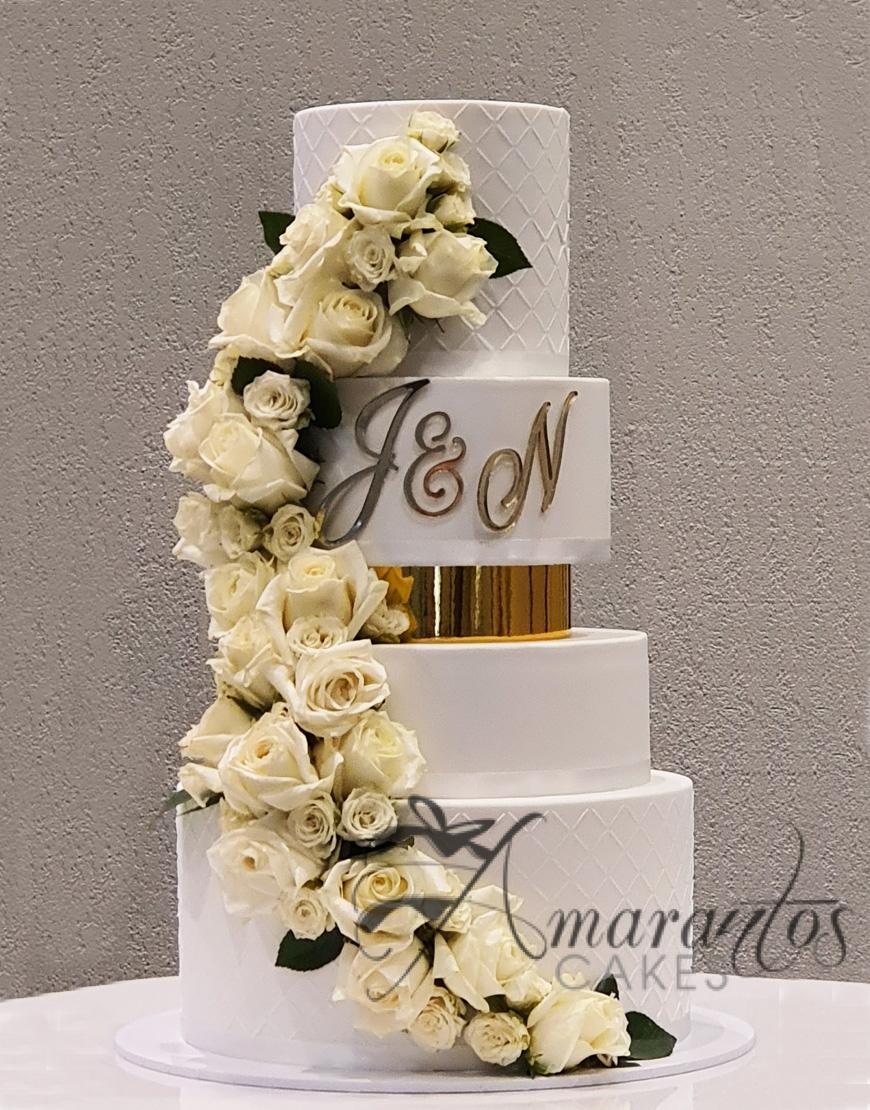 Six tier Wedding Cake - WC44