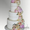 Six tier Fault line Wedding Cakes Melbourne - Amarantos Cakes