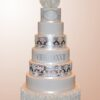 Seven tier wedding cake - WC54