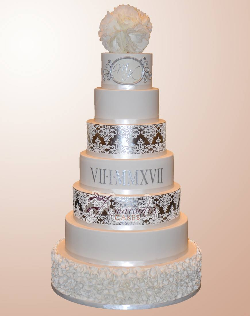 Seven tier wedding cake - WC54