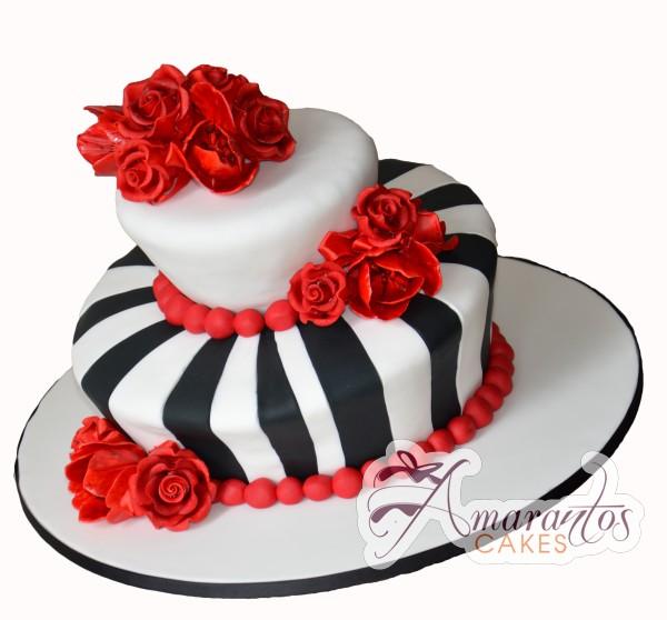Two Tier Cake - Amarantos Cakes Melbourne