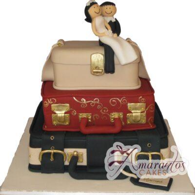 Three Tier Cake - WC75 - Amarantos Novelty Wedding Cakes Melbourne
