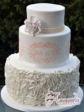 Ruffle Wedding Cakes Melbourne