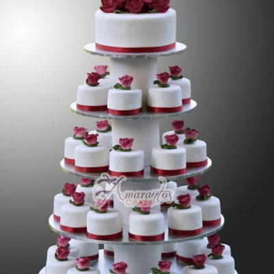 Cup cake tower wedding cakes